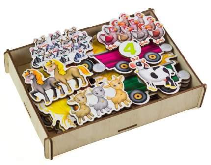 Игровой набор Paremo Липучка Трактор с животными