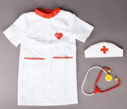 Набор доктора Лидер 3 предмета халат, колпак, стетоскоп