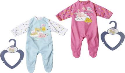 Одежда для куклы Zapf Creation My Little Baby born Ночные комбинезончики