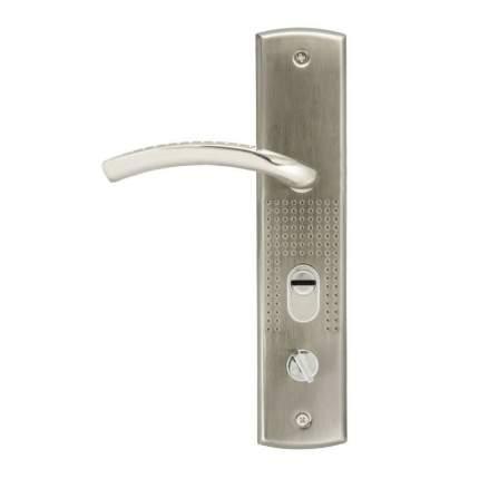 Ручка дверная на планке НОРА-М 200(96) (правая) для китайских дверей - Матовый никель