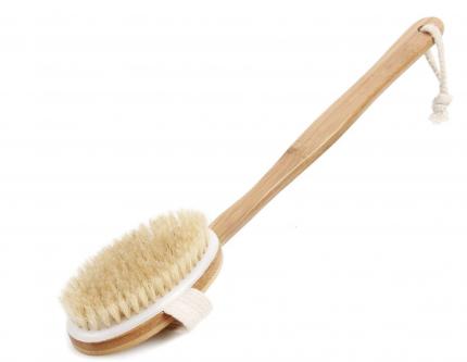 Щетка для сухого массажа тела URM от целлюлита, со съемной ручкой