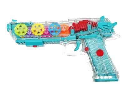 Прозрачный игрушечный пистолет Gear Light GUN со свет. и музыкальными эффектами, Голубой