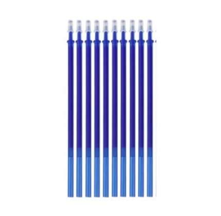 Стержни для стираемых ручек 0.5 мм синие длина 13 см 10 шт стираемые чернила Пиши-Стирай