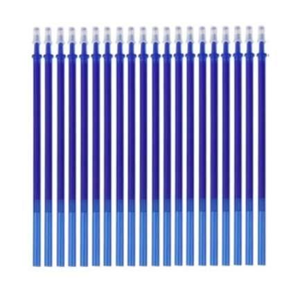 Стержни для стираемых ручек 0.5 мм синие длина 13 см 20 шт стираемые чернила Пиши-Стирай