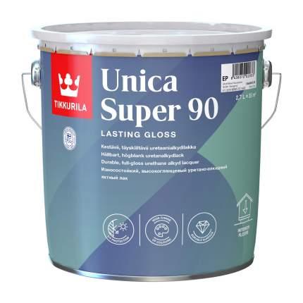 Лак яхтный Tikkurila Unica Super 90 износостойкий уретано-алкидный 2,7 л