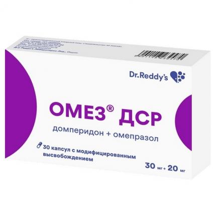 Омез ДСР капсулы модифицированного высвобождения 30 мг+20 мг 30 шт.