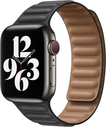 Ремешок Apple для смарт-часов Apple Watch 44mm Black Leather Link Small (MY9M2ZM/A)