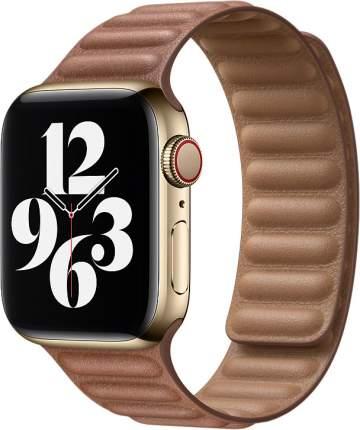 Ремешок Apple для смарт-часов Apple Watch 44mm Saddle Brown Leather Link Large (MY9J2ZM/A)