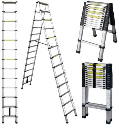 Лестница телескопическая алюминиевая UPU Ladder UPT512 3,8 м