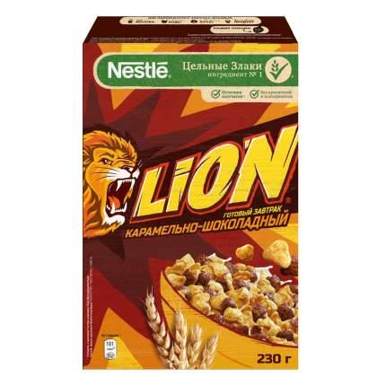 Готовый завтрак Lion карамельно-шоколадный обогащенный витаминами 230 г