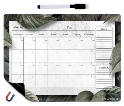 Планер магнитный LAIKAplanners на месяц Джунгли с маркером