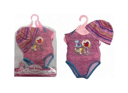 SHANTOU Одежда для куклы, 45 см (боди и шапочка) Yale Baby, розовая BLC53