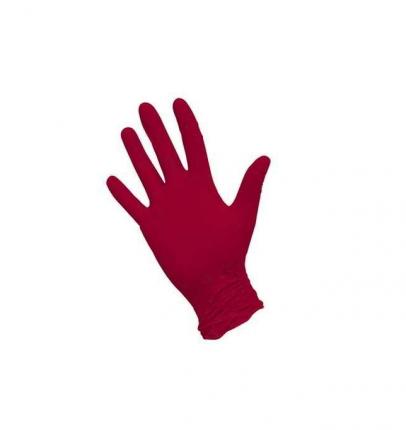 Набор перчаток нитриловых Benovy Q неопудренные цвет красные размер S 50 пар