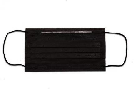 Маска трехслойная с резинками SMZ 1000 шт Черная