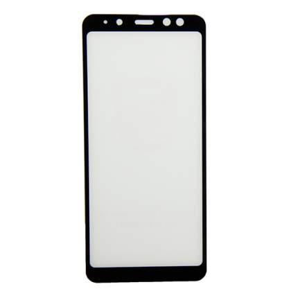 Защитное стекло для Samsung SM-A530F (Galaxy A8 2018) (2,5D/полная наклейка) <черный>