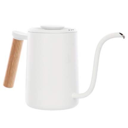 Чайник для заваривания кофе Timemore Fish Youth White-wood, 700 мл.