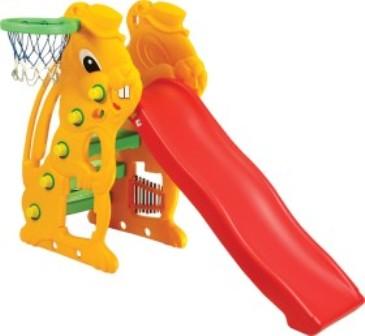 Горка Детская Ching-Ching Заяц С Баскетбольным Кольцом Sl-07