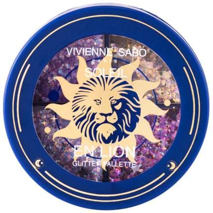 """Палетка глиттеров Vivienne Sabo """"Soleil en Lion"""", 01"""