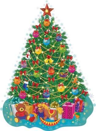 "Мини-плакат вырубной ""Новогодняя елочка"": 157х216 мм"