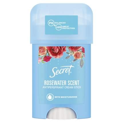Антиперспирант Secret женский твердый кремовый  Rosewater 40 мл