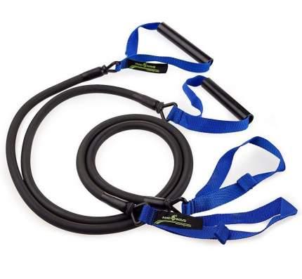 Тренажер для тренировки гребка MadWave Dry Training с ручками (Синий)