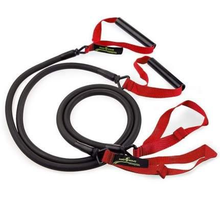 Тренажер для тренировки гребка MadWave Dry Training с ручками (Красный)
