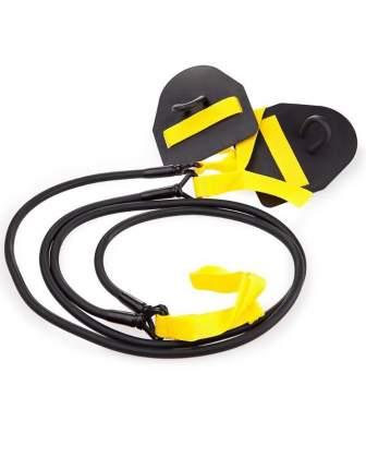 Тренажер для тренировки гребка MadWave Dry Training с лопатками (Желтый)