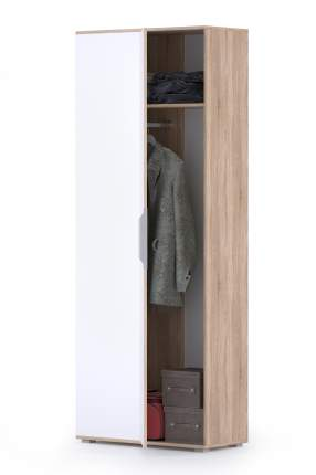 Шкаф для одежды угловой Mobi Куба 13.137 дуб сонома/белый премиум, 81,4х38х210,6 см.