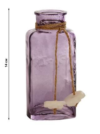 Эвис Вазочка овал декор цветная микс СКАНДИК МАРСКИ-3 Уинстон h-14см, фиолетовый