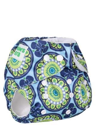 Подгузник детский многоразовый Mum's Era Ориент сине-зеленый со вкладышем