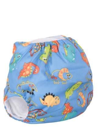 Подгузник детский многоразовый Mum's Era Дино голубой со вкладышем