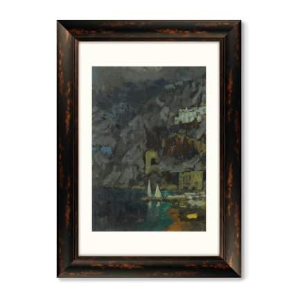 Репродукция Диптих Вид Амальфи, 1925г. (из 2-х картин)