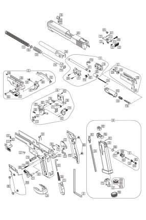Резинка хоп апа KWC SigSauer P226-S5 CO2 GBB (KCB-74AHN-R01)