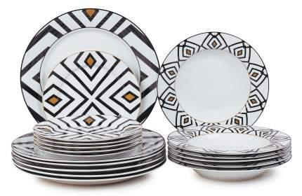Набор столовый JEWEL Мадагаскар 18 предметов (фарфор)