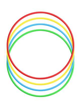 Набор детский игровой спортивный: Обруч 60 см. - 4 шт. (красный, желтый, голубой, зеленый)