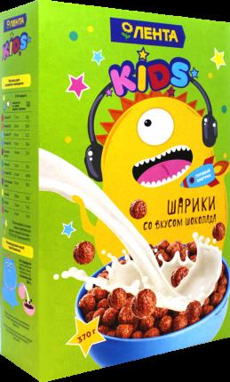 Готовый завтрак Лента Шоколадные шарики 370 г