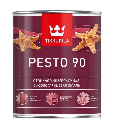 Эмаль Tikkurila Pesto 90 суперстойкая универсальная высокоглянцевая база А 0,9л