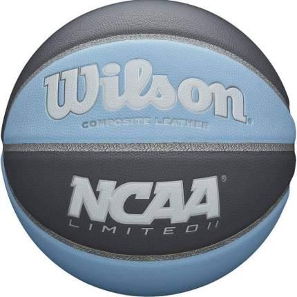Мяч баскетбольный Wilson NCAA Limited II, 7, голубой, тренировочный, клееный