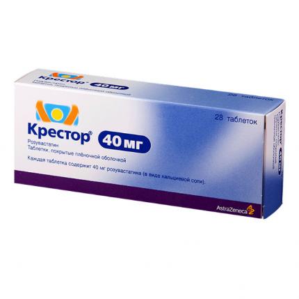 Крестор таблетки п.п.о. 40 мг 28 шт.