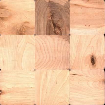 Деревянная настенная плитка на самоклеющейся основе Болтон 100x100 300x300 мм