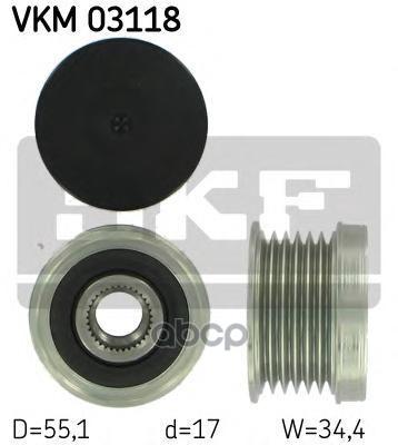 Обгонный шкив генератора Skf VKM03118