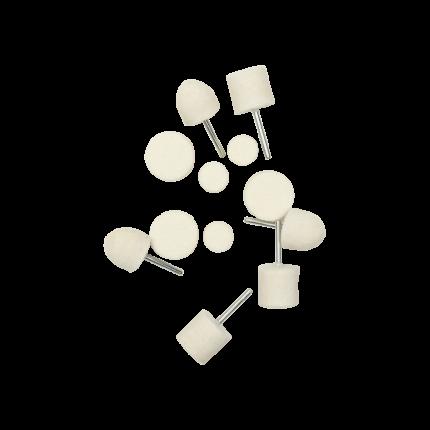 Насадка-войлок для полировки алюминия, хрома и стекла - к-т 12 предметов AuTech Au-33513