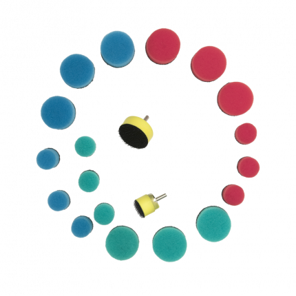 Комплект - Подложки для кругов к гибкому валу + круги - 20 предметов AuTech Au-33505