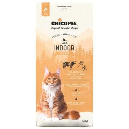 Сухой корм для кошек Chicopee CNL Cat Adult Indoor, говядина, 15кг