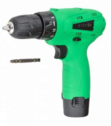 Дрель аккумуляторная Zitrek Green 12 (12В, Li-ion аккумулятор, бита) 063-4071