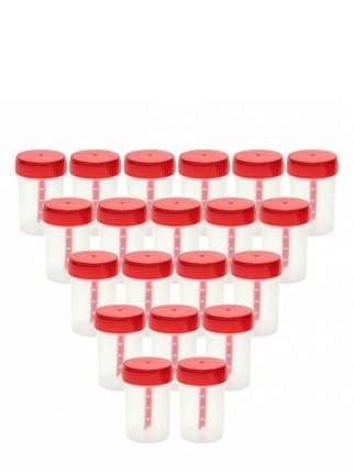 Комплект Баночка для анализов 60 мл с ложкой стерильная 20 шт.