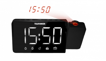 Радио-часы Telefunken TF-1709 Black
