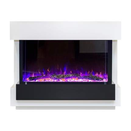 Электрокамин Royal Flame Cube, белый/черный