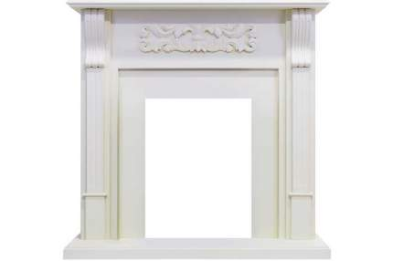 Классический портал для камина Royal Flame Venice под классический очаг Фактурный белый