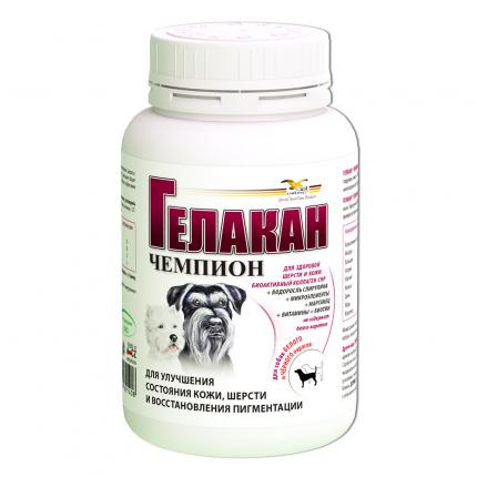 Пищевая добавка для собак GELACAN Чемпион для черно-белых пород, 150 г